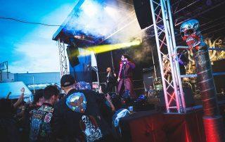 """""""Lord Vigo"""" aus Weiden bot beim """"Stormcrusher""""-Open Air-Festival auf dem Gelände des neuen Rockmusikclubs """"Salute"""" eine gelungene Show. Foto: Elli Fox/""""Salute"""""""